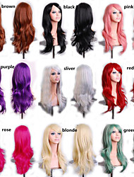 Harajuku Cosplay Wigs Sex Products Anime Long Curly Heat Resistant Synthetic Hair Purple Blonde Wig Peruca Perruque
