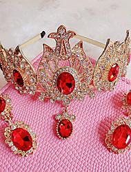Mujer Diamantes Sintéticos / Cristal / Aleación Celada-Boda / Ocasión especial / Al Aire Libre Tiaras 2 Piezas