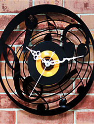 Music Microphone CD Records Wall Clock