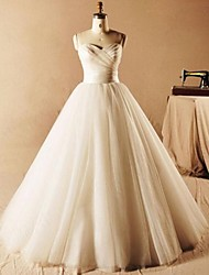 Ball Gown Wedding Dress Floor-length Sweetheart Tulle with Ruche