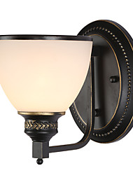 1 Light Wall Light Fixture, Black