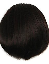 Wig Chocolate Color 7CM High-Temperature Wire Oblique Bangs Colour 2/33