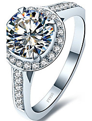 Brand Quality 1.5CT Excellent Cut SONA Diamond Ring for Women Sterling Silver in Platinum Plated Engagement Jewelry