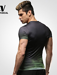 Men's Running Tops Running Breathable Hulk Running Gym Fitness Tights