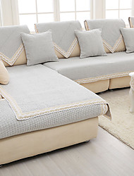 Cotton/linen old coarse Slip-resistant Slipcover Fashion Four Seasons Knitted Fabric Sofa Cushion Light Gray Color