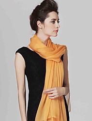 Women Cute Pure Color High-end Scarves Orange Chiffon Shawl Beach Towel