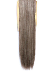 Grey Straight Blending Long Straight Hair Wig Ponytails 33/613