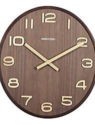 Otros Moderno/Contemporáneo Reloj de pared,Otros Madera 36*36*8