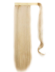 золотой 60см синтетическая высокая температура проволоки парик прямые волосы цвета 22 хвостик