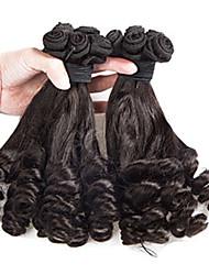 "3Pcs/Lot 8""-24"" Brazilian Virgin Hair Natural Black Funmi Hair Unprocessed Virgin Human Hair Extensions Tangle Free"