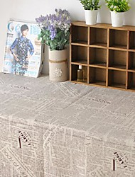 Newspaper Table Cloth Fashion Hotsale High-grade Cotton Linen Square Coffee Table Cloth Cover Towel