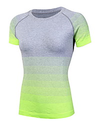 Running T-shirt Women's Quick Dry / Sweat-wicking Running Sports Sports Wear Green / Red / Black / Blue