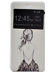 coldre pu tampa do telefone de volta pintada tensão de material de concha para o Huawei Ascend P9 / P9 Lite