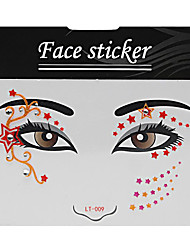 Abstract Pat Nightclubs Party Red Face Sticker LT-009