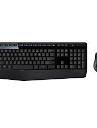 teclado sem fio Logitech originais mk345 2,4 GHz e de combinação do mouse para combinação wireless desktop do PC com receptor nano preto