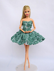 Movie/TV Theme Costumes Costumes For Barbie Doll Light Green Dresses For Girl's Doll Toy