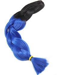 Afro Multiple Color Braid Hair Heat Resistant Fiber Ombre Two Tone