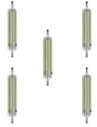 10W R7S LED Mais-Birnen T 120 SMD 2835 800 lm Warmes Weiß / Kühles Weiß Dekorativ / Wasserdicht AC 220-240 V 5 Stück
