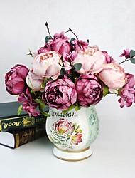 Seda Peônias Flores artificiais