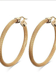 WOMEN Stainless Steel gold  Hoop Earrings