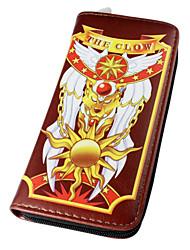 Tasche / Geldbörsen Inspiriert von Cardcaptor Sakura Sakura Kinomoto Anime Cosplay Accessoires Geldbeutel Rosa / Braun PU LederMann /