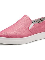 Women's Shoes Synthetic Flat Heel Boat/Comfort Loafers Office & Career / Athletic / Dress / Casual Blue/Pink/Silver