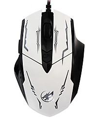 lobo guerra 6d com fio do mouse jogos de luz respiração 2400dpi retroiluminado para lol / cf / dota