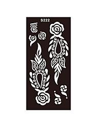 1pc Airbrush Body Art Rose Flower Glitter Henna Stencil Tattoo Temporary Tattoo Sticker Template S222