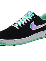 Nike Air Force 1 Round Toe / Sneakers / Casual Shoes / Skateboarding Shoes / Running Shoes Women's Wearproof Low-Top BlackRunning/Jogging