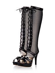 bottes printemps chaussures club d'automne d'été de confort gladiator pu tulle partie&robe de soirée stiletto occasionnel divisé