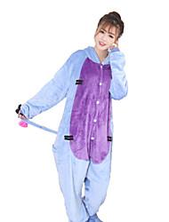 kigurumi Pyjamas Âne Collant/Combinaison Fête / Célébration Pyjamas Animale Halloween Bleu Mosaïque polaire Kigurumi Pour Unisexe