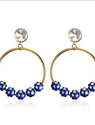 Hoop Earrings Stainless Steel Fashion Statement Jewelry Star Blue Jewelry Party Daily Casual 1 pair