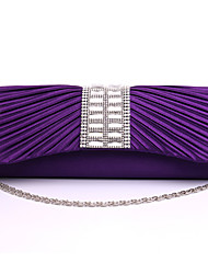 Women Satin Formal / Event/Party / Wedding Evening Bag White / Purple / Gold / Silver / Black