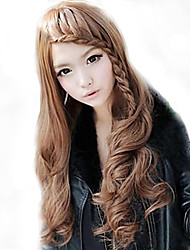 South Korea fashion light brown wavy curly hair