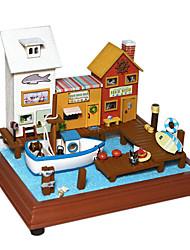 Saint Valentin cadeau chi fun house cabine bricolage à la main modèle de petite maison de ville ludique