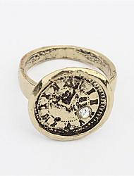 Ringe Damen / Herren / Paar / Unisex Strass Legierung Legierung 4.0 / 6 Gold / Silber