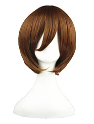 Cosplay Wigs Vocaloid Yoshino Brown Short Anime Cosplay Wigs 35 CM Heat Resistant Fiber Male / Female