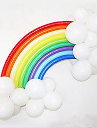 Радуга воздушный шар установлен на день рождения декора партия свадьбы (20 длинный воздушный шар, 16 круглый баллоном, случайный цвет)