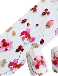 1pcs 100cmx4cm Glitter Nail Foil Sticker Lovely Cartoon Beautiful Flower Nail Decorations DIY Beauty STZXK01-05