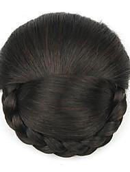Kinky кудрявый черный европы невесты человеческих волос монолитным парики шиньоны dh103 2/33