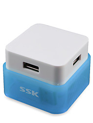 ssk shu020 hub USB 4 ports haute vitesse câble concentrateurs USB2.0 splitter quatre interfaces splitter