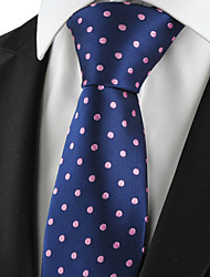 KissTies Men's Polka Dot Microfiber Classic Tie Formal Suit Necktie Wedding Party Holiday Gift (4 Colors Available)