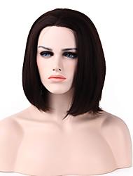 corta el pelo humano más destacado rectas delante de la moda de las pelucas 8 colores para elegir