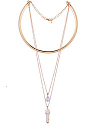 Collier Quotidien Zircon Alliage Femme