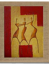 Ручная роспись Люди Modern,1 панель Hang-роспись маслом