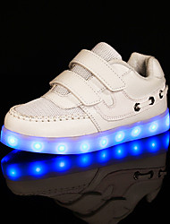 LED Light Up Shoes, Girls' Shoes Outdoor / Casual Comfort / Closed Toe Synthetic / Tulle Fashion Sneakers Black / Pink / White