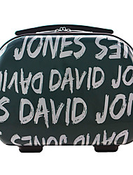 DAVIDJONES Women's Fashion Casual Multifunctional Cosmetic Makeup Bag Storage Tote Organizer-Black-grey