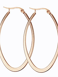 Earring Oval Jewelry Women Fashion Party / Daily / Casual Titanium Steel 1 pair Gold / Rose Gold
