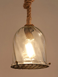Max 60W Vintage Style hemp rope Glass Pendant Lights Living Room / Bedroom / Dining Room / Kitchen / Study Room