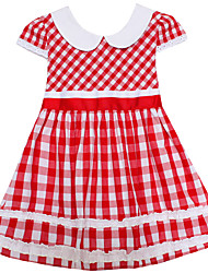 Girls Dress Red Tartan Sundress Plaid Party Christmas Casual Baby Children Clothes
